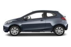 Mazda 2 Independence Kleinwagen (2007 - 2014) 3 Türen Seitenansicht