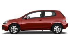 VW Golf Trendline Kompaktklasse (2008 - 2012) 3 Türen Seitenansicht