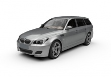 BMW 545i Touring (2004-2005, E61) Front + links
