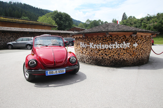 VW Käfer Cabrio als E-Mobil - Batterie statt Boxer