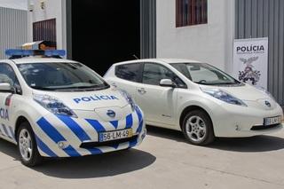 Nissan Leaf mit Blaulicht - Portugals Polizei setzt auf E-Mobilität
