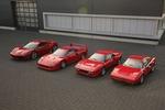 Ferrari GTB Turbo, 288, F40,488: Turbo-Ferraris im&nb...