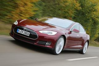 Tesla Model S - Elektroauto in Brand