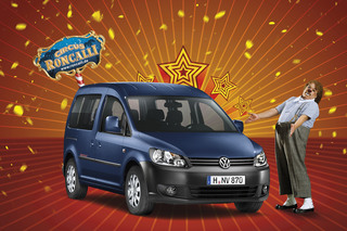 VW Caddy Roncalli - Günstige Zirkusnummer