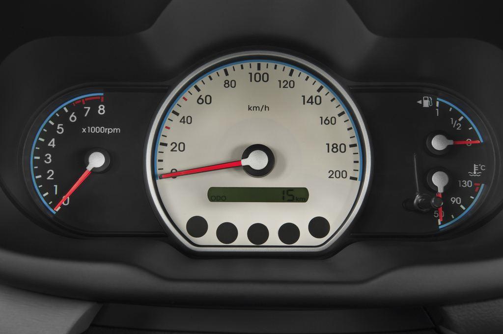 Hyundai i10 Style Kleinwagen (2008 - 2013) 5 Türen Tacho und Fahrerinstrumente