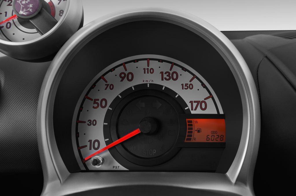 Peugeot 107 Envy Kleinwagen (2005 - 2014) 3 Türen Tacho und Fahrerinstrumente