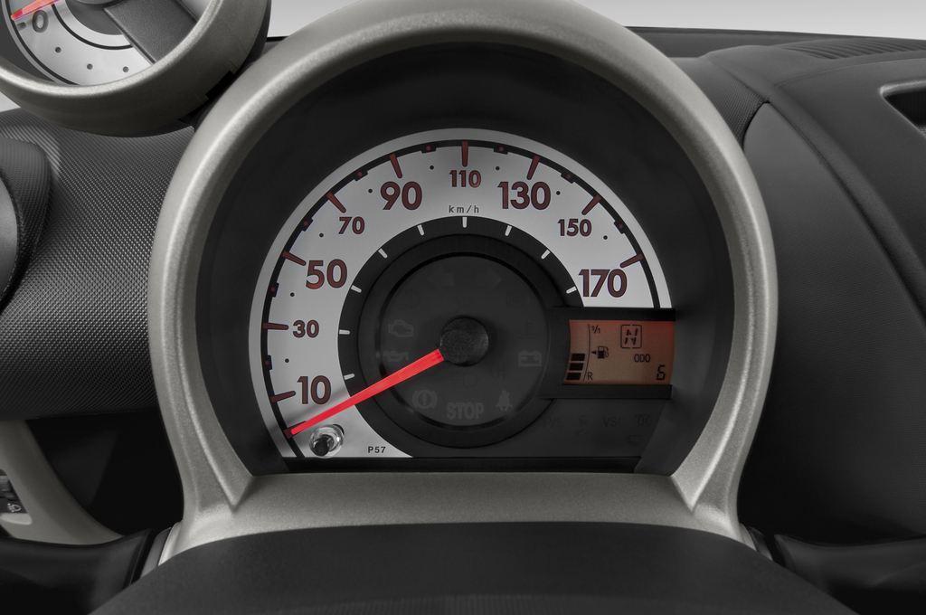 Peugeot 107 Filou Kleinwagen (2005 - 2014) 3 Türen Tacho und Fahrerinstrumente