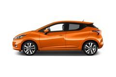 Nissan Micra Tekna Kleinwagen (2016 - heute) 5 Türen Seitenansicht