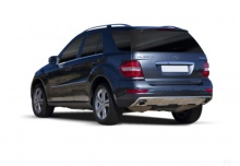 Mercedes-Benz ML 450 CDI 4Matic 7G-TRONIC DPF (2010-2011) Heck + links
