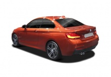 BMW 225d Coupe Aut. (seit 2017) Heck + links
