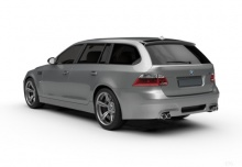BMW 545i Touring (2004-2005, E61) Heck + links