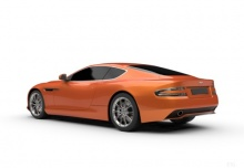 Aston Martin Virage Coupe Touchtronic (2012-2012) Heck + links