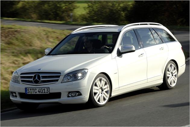 Deutlich eckiger als der Vorgänger: Das neue T-Modell der Mercedes C-Klasse
