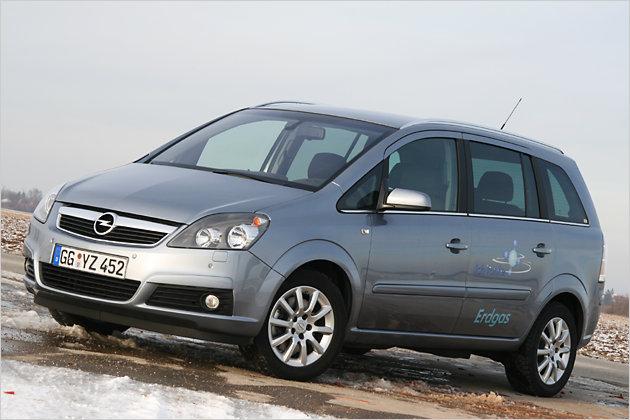 Von außen gibt sich der Opel Zafira 1.6 CNG unauffällig