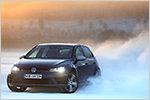 VW Golf R: Angetestet und abgedriftet auf dem Eissee