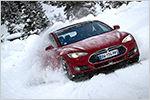 Tesla Winter Experience: Mit dem Model S durch den Schnee