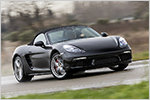 Erste Mitfahrt im Porsche 718 Boxster und Boxster S mit technischen...