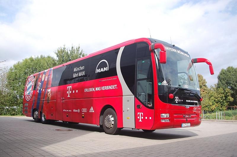 Die Mannschaftsbusse der Fußball-Bundesligisten - So fahren die Bundesliga-Stars ins Stadion
