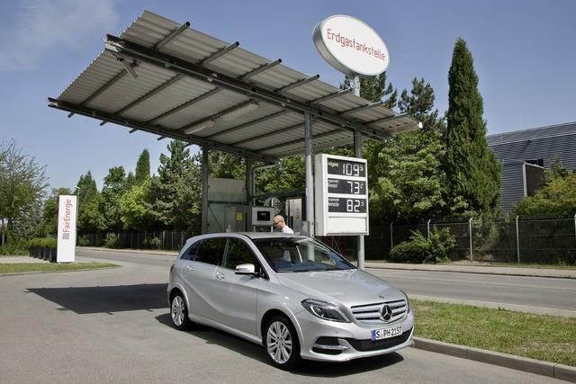 Mercedes B200 Natural Gas Drive - Günstig Gas geben