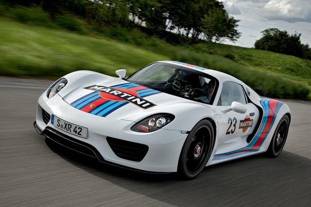 Porsche 918 Spyder-Protoyp - Öko-Renner im Martini-Trimm