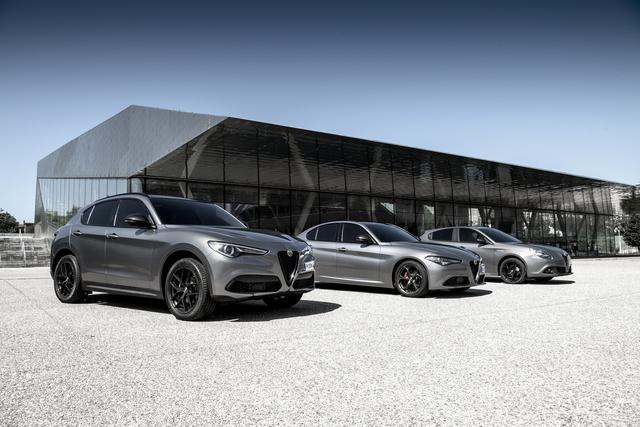 Sondermodelle von Alfa Giulia, Stelvio und Giulietta - Drei mit schwarzen Akzenten