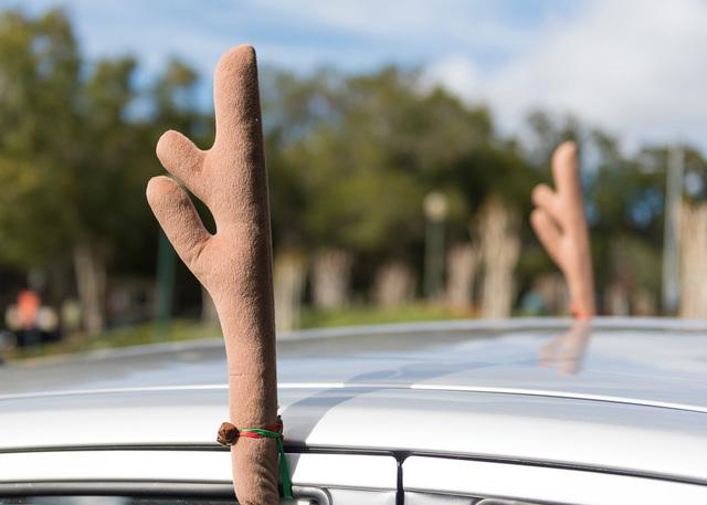 Tipp: Weihnachtsdeko am Auto - Nichts für schnelle Fahrten