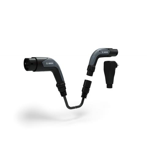 Neuartiges Bosch-Ladekabel   - Einfach und schlank statt doppelt und klobig