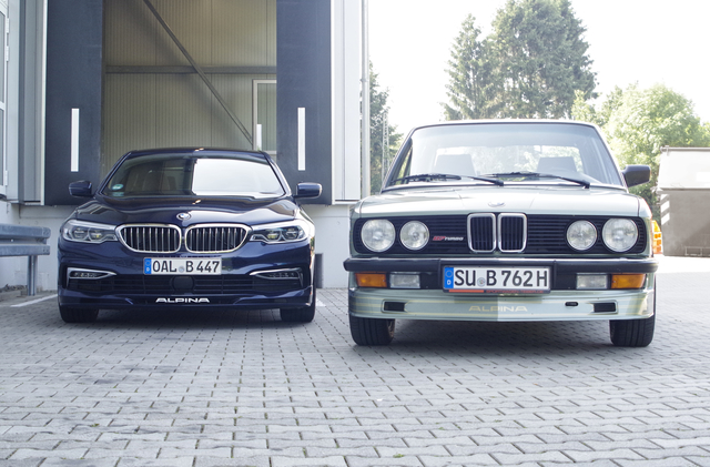 Impression: Alpina B7 Turbo trifft B5 Biturbo - Blaugrüne Traumkombination