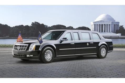 Neue Präsidentenlimousine der USA - Donald Number One - die rollende Trutzburg