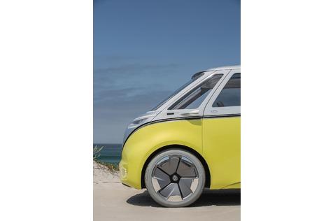 Dank der I.D.-Plattform können die klassischen Proportionen des VW Bullis wieder realisiert werden