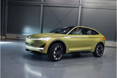 Unterwegs im Skoda Vision E - Der elektrische Volkswagen