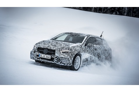 Prototypenerprobung Mercedes A-Klasse - A-Klasse in der Kühlkammer