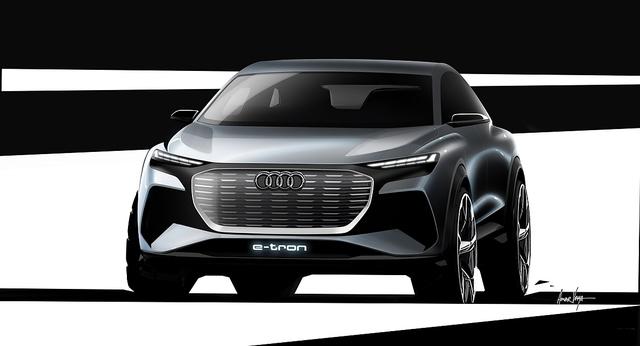 Audi Q4 E-Tron Concept - Auf den Spuren des Q8