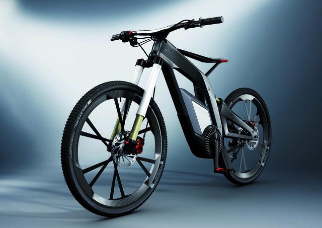 Audi E-Bike - Trick-Rad mit Balancehilfe