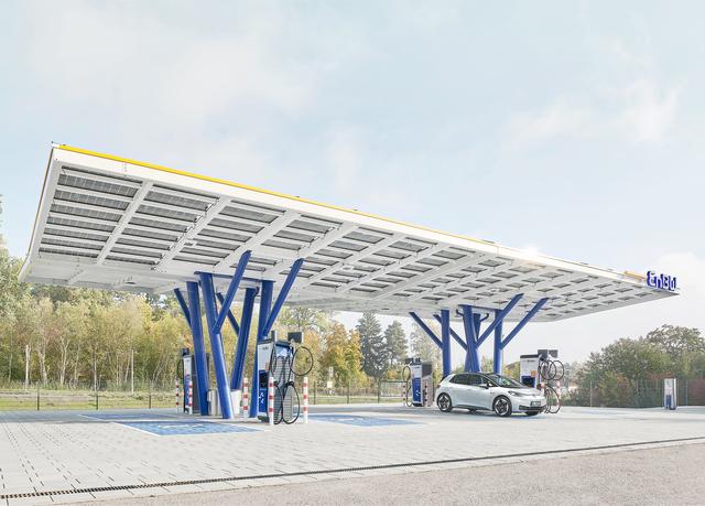 EnBW eröffnet Ladepark mit Solardach - So sieht das Tanken der Zukunft aus