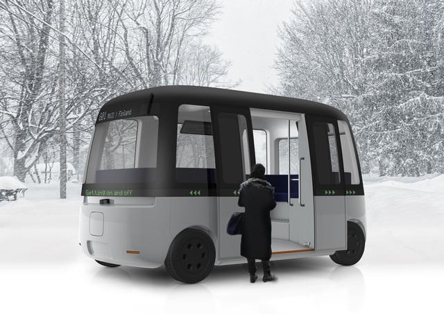 Autonomer Shuttle-Bus aus Finnland - Fährt bei jedem Wetter