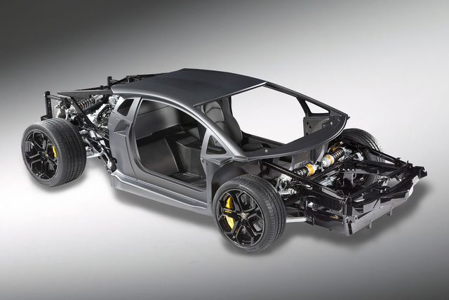 Lamborghini - Kohlenstofffasern machen den neuen Aventador leicht
