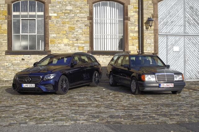 Impression: Mercedes 300 TE-24 trifft seinen Ururenkel E 53 AMG T-Modell - Noch immer schnell und praktisch