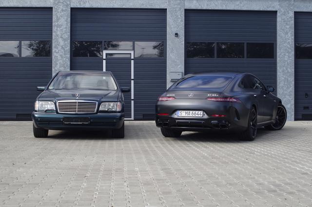 Impression: Mercedes S 600 7.0 AMG trifft auf Mercedes-AMG GT 63 S Viertürer - Brüder im Geiste