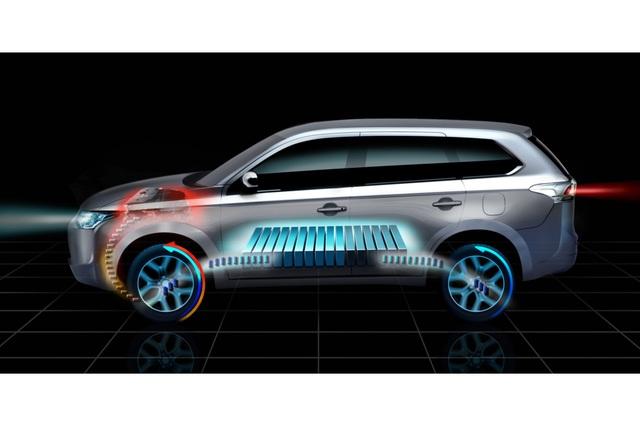 Mitsubishi Outlander Plug-in - Elektroauto mit Allradantrieb