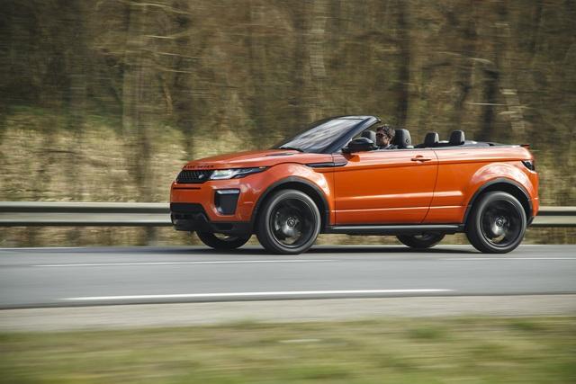 test range rover evoque cabriolet zwischen protz und. Black Bedroom Furniture Sets. Home Design Ideas