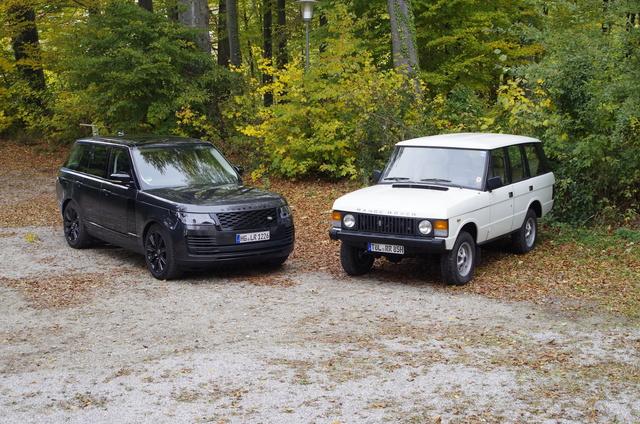 Impression: Range Rover V8 Urmodell trifft Range Rover V8 Supercharged - Wenn Gelände zur Nebensache wird