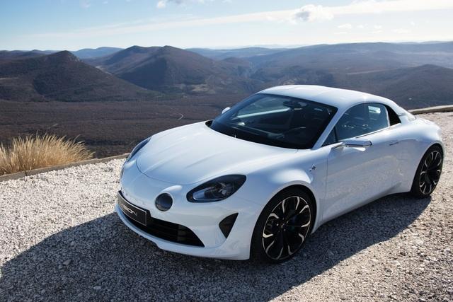 Renault Alpine Première Edition - App-gefahrene Aktion