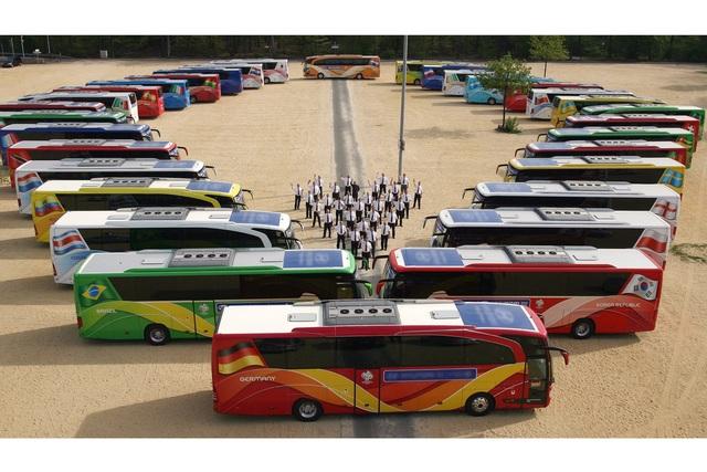 EM 2012 in Polen und der Ukraine - Fußball-Elite fährt mit Bussen aus Ulm