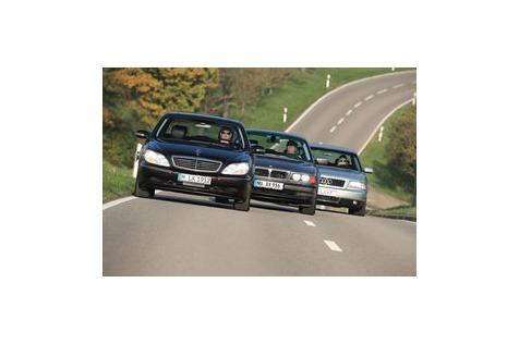 Fahrbericht Mercedes S 500, BMW 740i, Audi A8 4.2: Luxus-V8-Limousinen ab 5.000 €