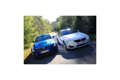 BMW M3 vs. CadillacATS-V: Konkurrenz für denPlatzhirsch