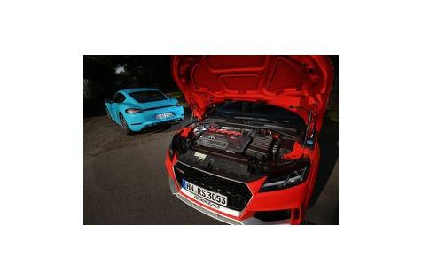 Audi TT RS, 718 Cayman S imTest: Fünfzylinder fertigt Vierzylinderab