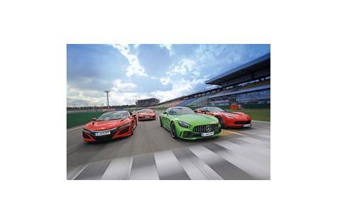 AMG GT R, Corvette, NSX und R8: Supersport-Showdown am Ring