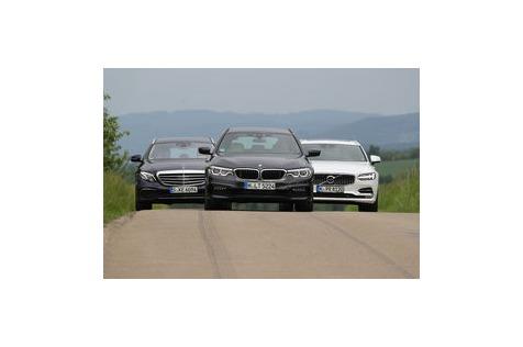 BMW 530, Mercedes E, Volvo V90: Oberklasse-Kombis im Test