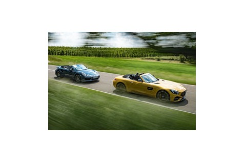Test Mercedes-AMG GT C vs. Porsche 911: Wettstreit der Power-Cabrios
